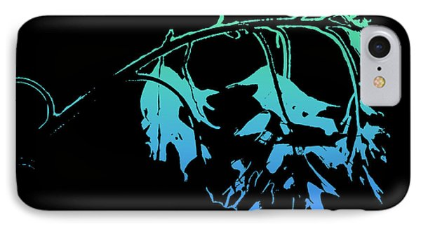 IPhone Case featuring the photograph Blue On Black by Lauren Radke