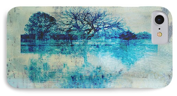 Blue On Blue IPhone Case by Ann Powell