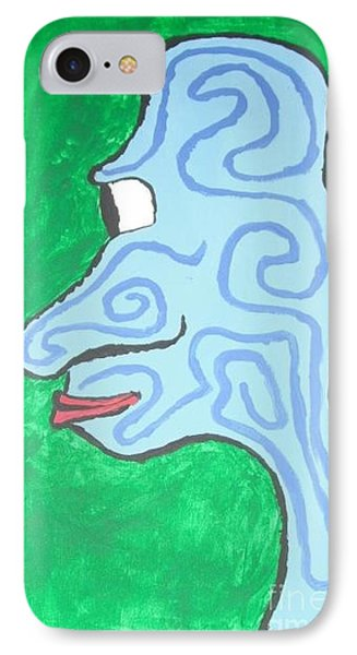 Blue Profile Phone Case by Jeannie Atwater Jordan Allen