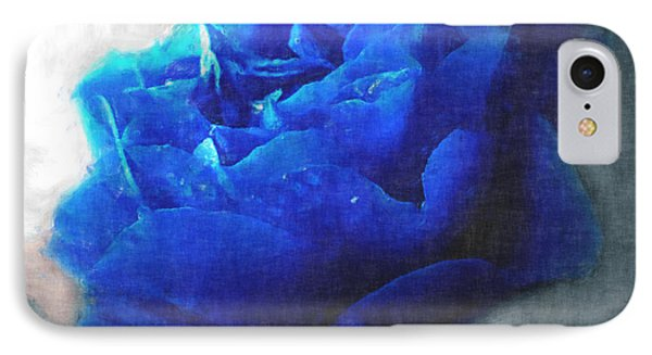 IPhone Case featuring the digital art Blue Rose by Debbie Portwood