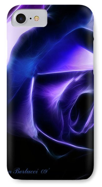 IPhone Case featuring the photograph Blue Rose by Joan Bertucci
