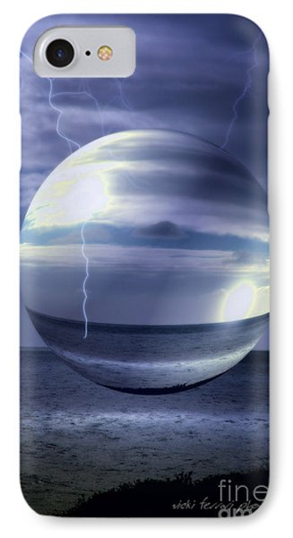 Blue Sea Hover Bubble IPhone Case by Vicki Ferrari