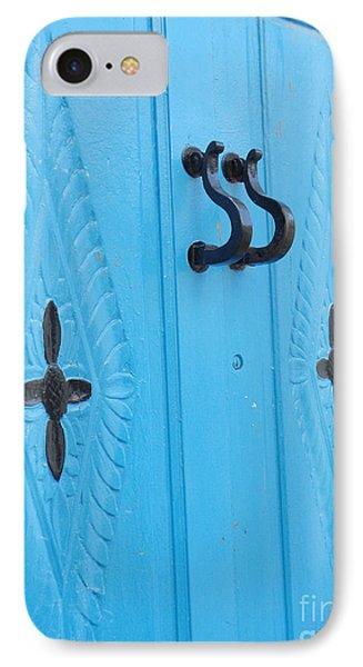 Blue Sidi Bou Said Tunisia Door IPhone Case by Eva Kaufman