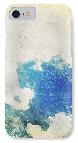 Blue Sky And Cloud On Old Grunge Paper Phone Case by Setsiri Silapasuwanchai
