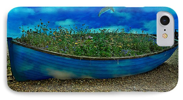IPhone Case featuring the photograph Blue Sky Boat  by Chris Lord