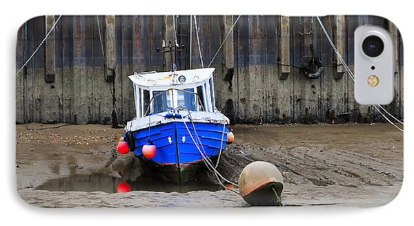 Blue Small Boat Phone Case by Svetlana Sewell