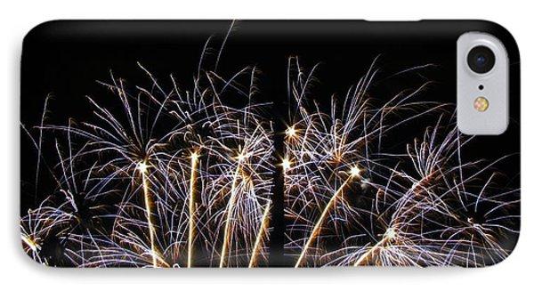 Blue Star Fireworks IPhone Case