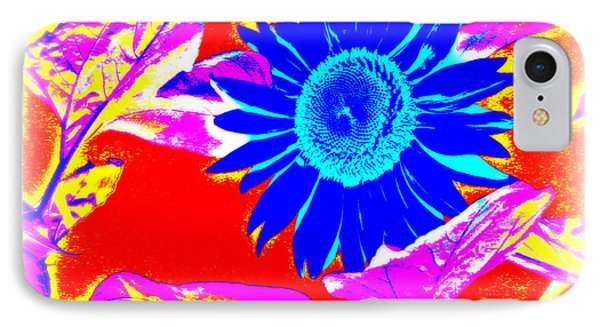 Blue Sunflower Phone Case by Pauli Hyvonen