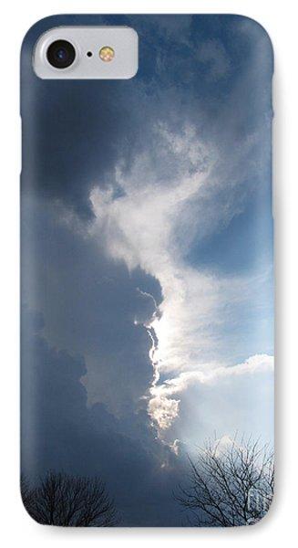 Blue Sunset 1 IPhone Case by Cedric Hampton