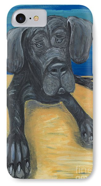 Blue The Great Dane Pup IPhone Case by Ania M Milo