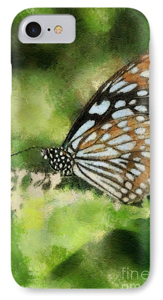 Blue Tiger Phone Case by Lois Bryan