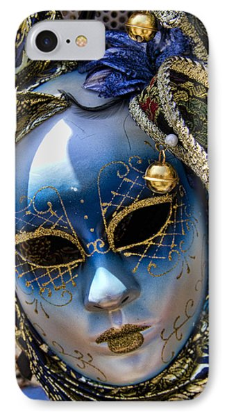 Blue Venetian Mask Phone Case by David Smith