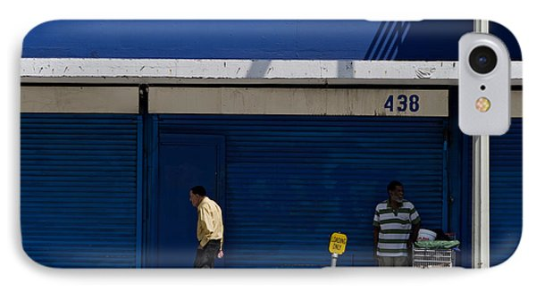 IPhone Case featuring the photograph Blue Wall At 438 by Lorraine Devon Wilke