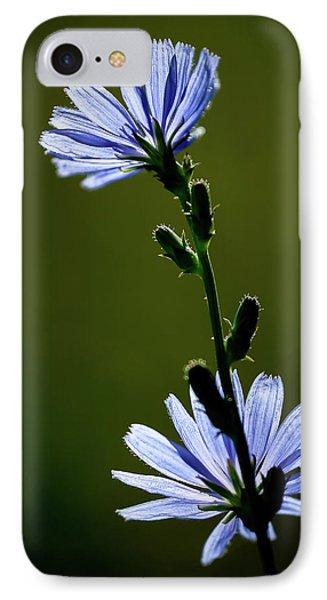 Blue Wildflower Phone Case by  Onyonet  Photo Studios