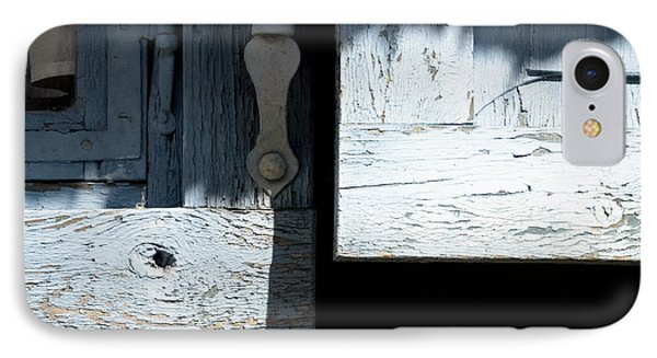 IPhone Case featuring the photograph Blue Wooden Window Shutters by Agnieszka Kubica