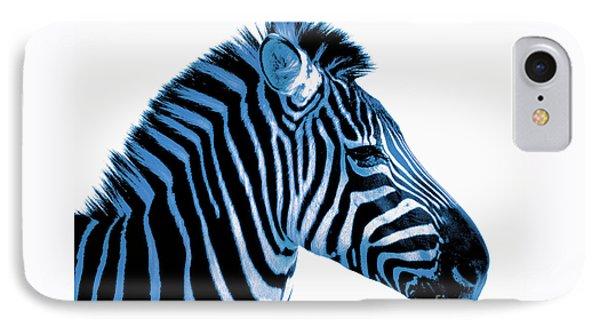 Blue Zebra Art Phone Case by Rebecca Margraf