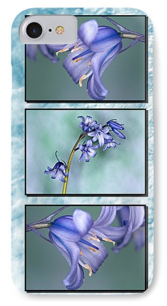 IPhone Case featuring the photograph Bluebell Triptych by Steve Purnell
