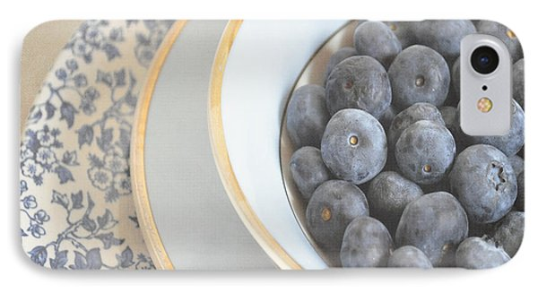 Blueberries In Blue And White China Bowl IPhone Case