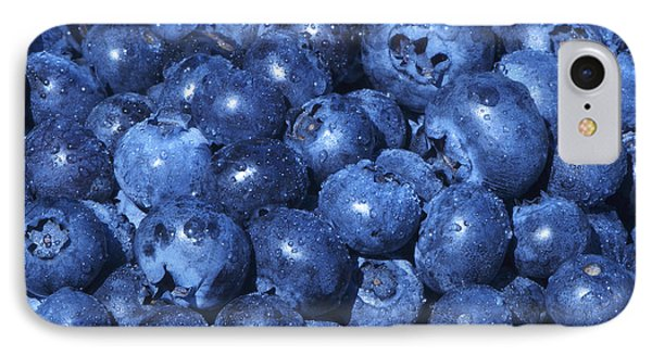 Blueberries With Waterdrops Phone Case by Sharon Talson