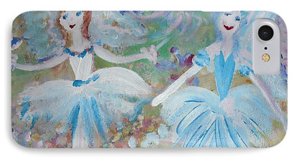 Blueberry Fairies IPhone Case by Judith Desrosiers