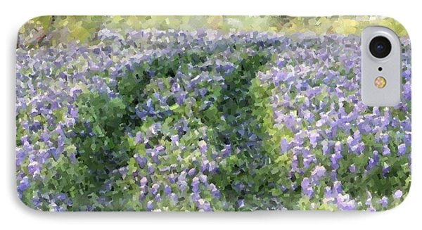 Bluebonnet Trail IPhone Case