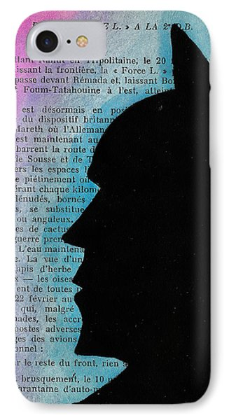 Bman Silhouette IPhone Case by Jera Sky