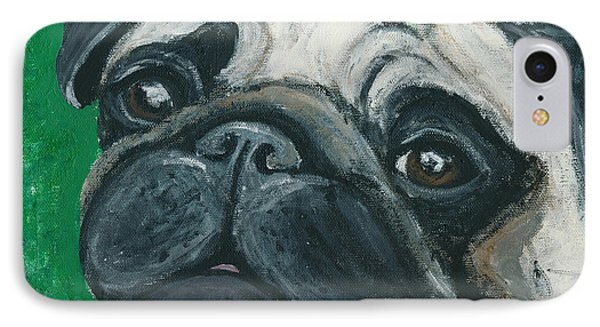 Bo The Pug IPhone Case by Ania M Milo