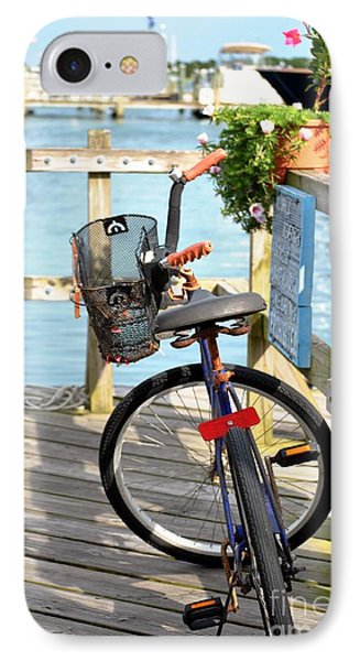 IPhone Case featuring the photograph Boardwalk Bike by Kelly Nowak