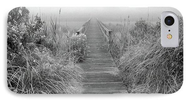 Boardwalk In Quogue Wildlife Preserve Phone Case by Rick Berk