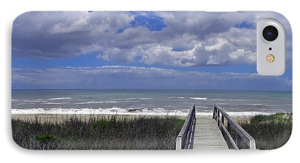 Boardwalk To The Beach Phone Case by Sandi OReilly