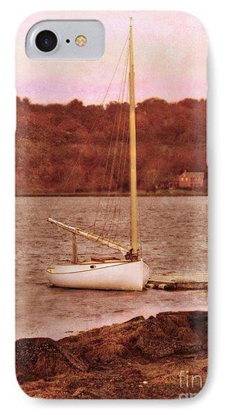 Boat Docked On The River Phone Case by Jill Battaglia