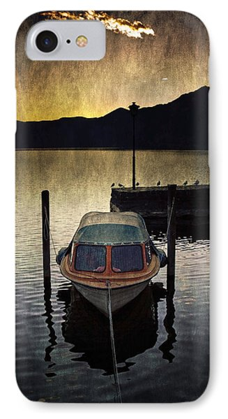 Boat During Sunset Phone Case by Joana Kruse