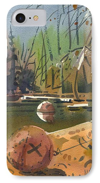 IPhone Case featuring the painting Boat Moorings by Donald Maier