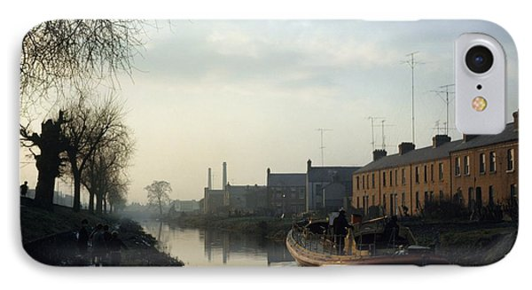 Boat On Grand Canal, Dublin City IPhone Case by The Irish Image Collection