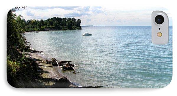 Boat On Lake Ontario Phone Case by Rose Santuci-Sofranko