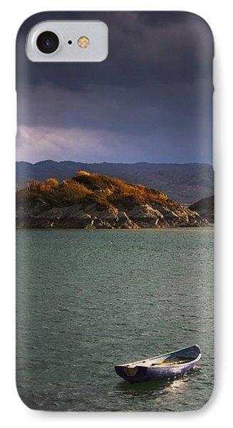 Boat On Loch Sunart, Scotland IPhone Case by John Short