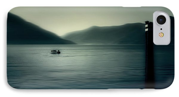 boat on the Lake Maggiore Phone Case by Joana Kruse