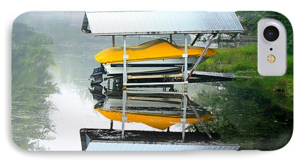 IPhone Case featuring the photograph Boat Reflections by Ann Murphy