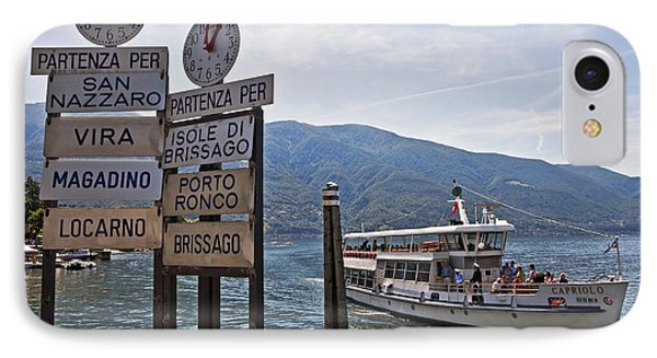 Boat Trip On Lake Maggiore Phone Case by Joana Kruse