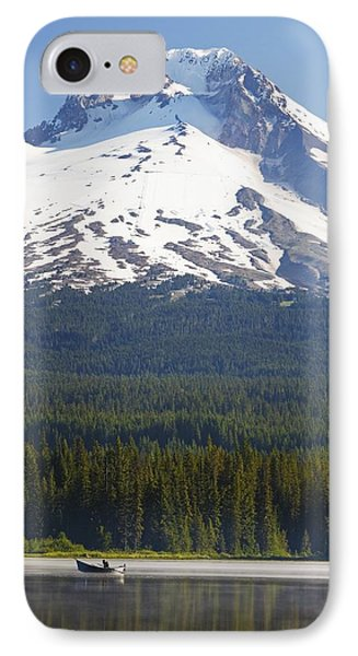 Boating In Trillium Lake With Mount Phone Case by Craig Tuttle