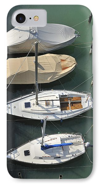 Boats And Water From Above Phone Case by Matthias Hauser