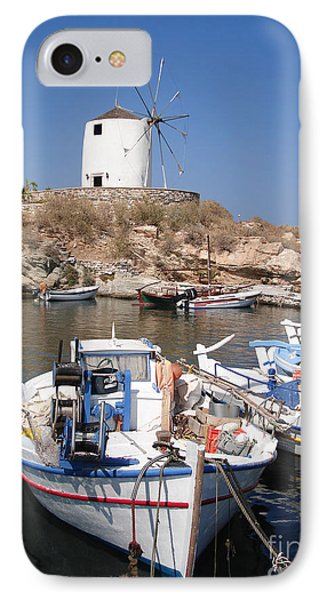 Boats And Windmill Phone Case by Jane Rix