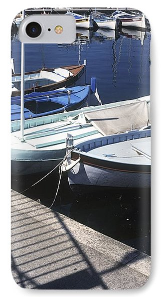 Boats In Harbor Phone Case by Axiom Photographic
