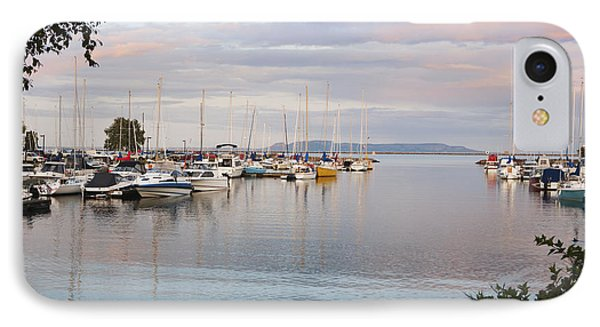 Boats In The Harbour At Sunset Thunder Phone Case by Susan Dykstra