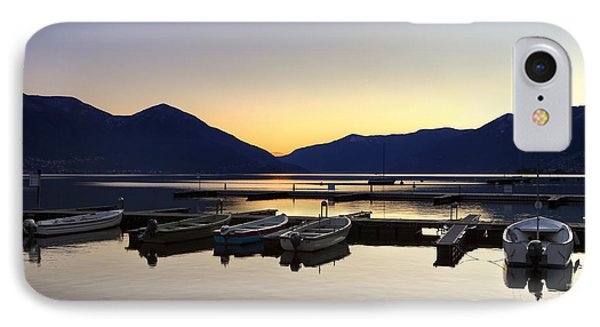 Boats In The Sunset IPhone Case by Joana Kruse
