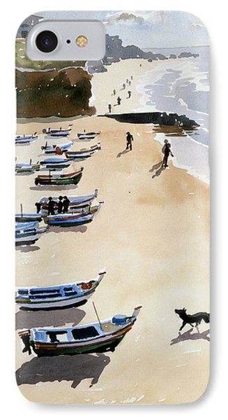 Boats On The Beach Phone Case by Lucy Willis