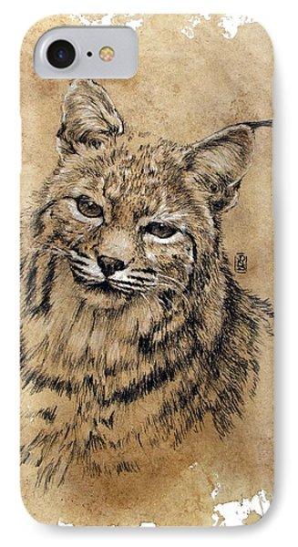 Bobcat IPhone Case by Debra Jones