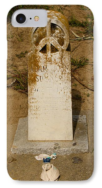Bodega Bay Cemetery IPhone Case by Suzanne Lorenz