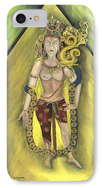 Bodhisatva And Makara IPhone Case by Michael Rowley
