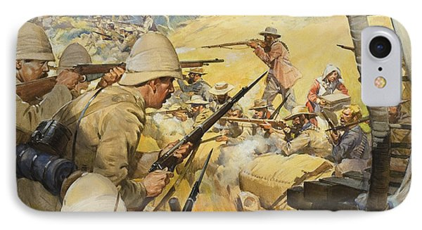 Boer War Skirmish IPhone Case by James Edwin McConnell